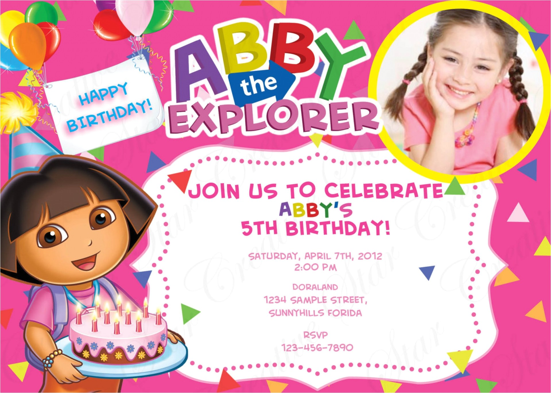 customized simple birthday invitation cards online free modern designing dora designing picture