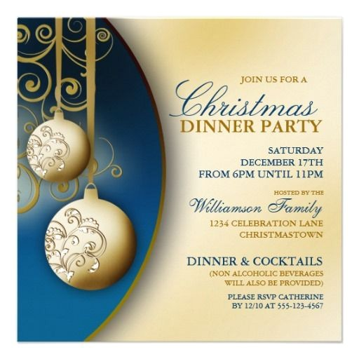 christmas dinner party invitations 2
