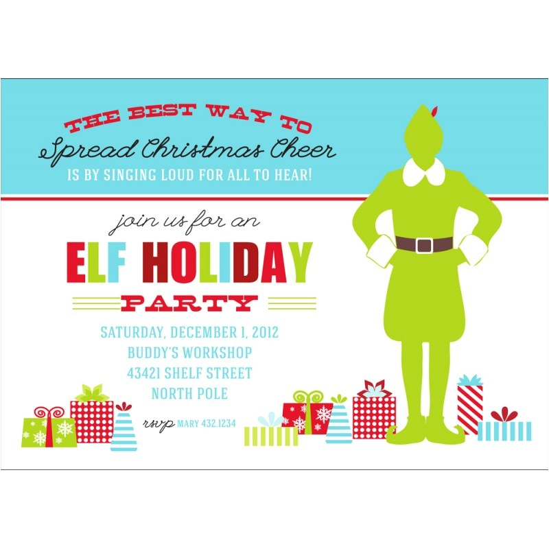 buddy the elf printable invitation