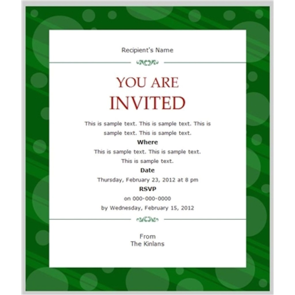 business invitation template example