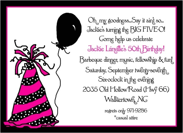 invitation 50th birthday party
