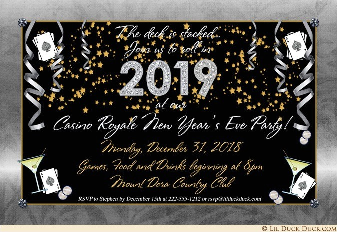 golden new years eve party invitations