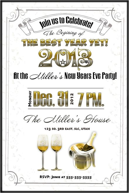 10 best new years eve party invitations printable