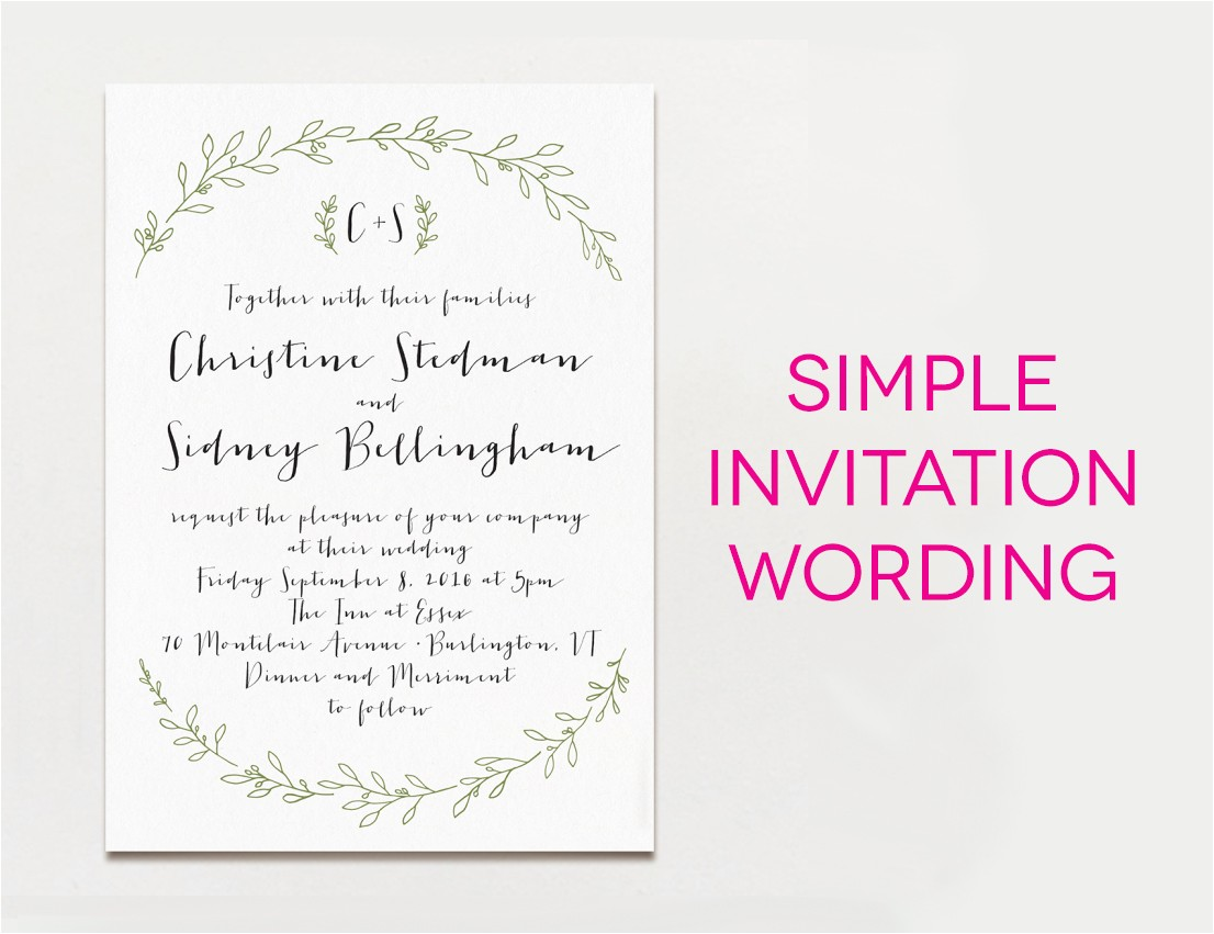 Invitation Sayings for Weddings 15 Wedding Invitation Wording Samples From Traditional to Fun