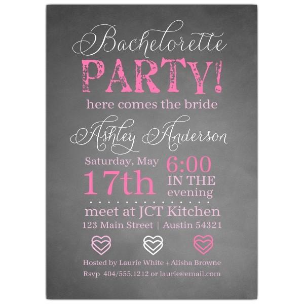 chalkie bachelorette invitations p 604 57 1345