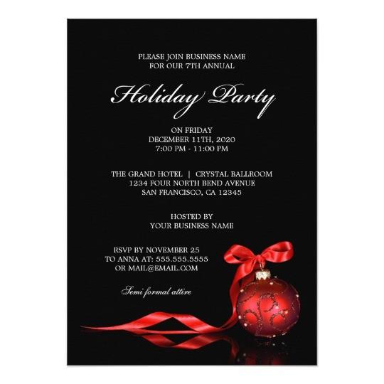 Invitation to A Company Christmas Party Corporate Holiday Party Invitations Zazzle Com