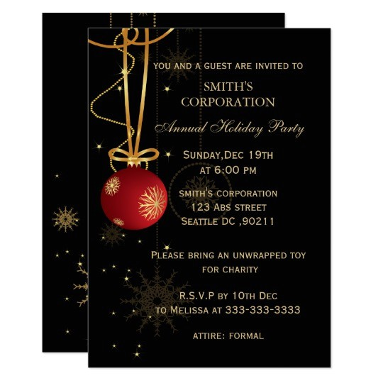 elegant corporate holiday party invitations 256603654705477569