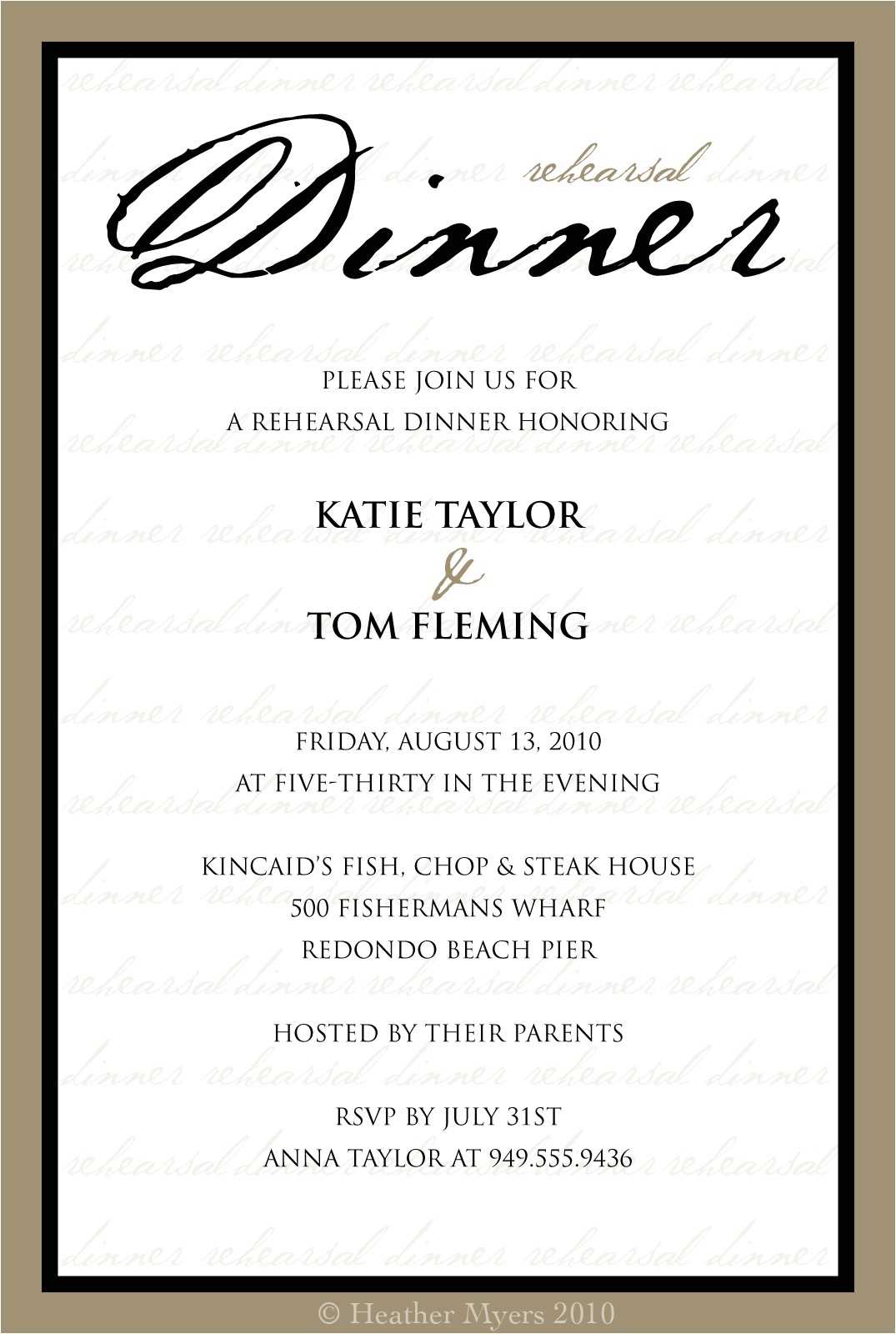 dinner invitations template