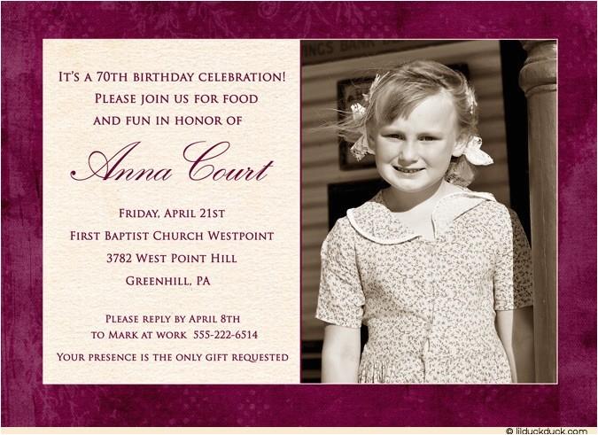 60th birthday party invitation wording
