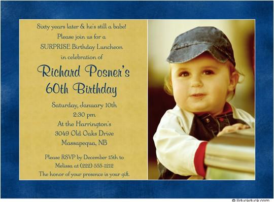 60th birthday party invitations ideas