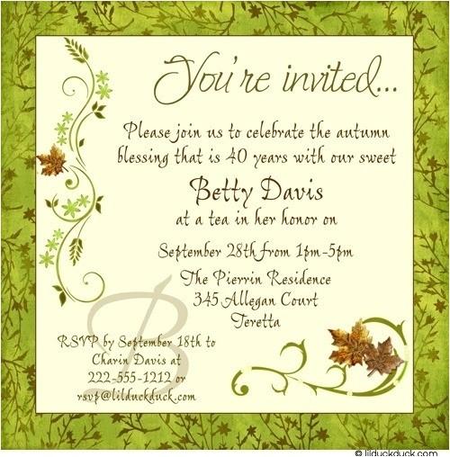 adult birthday invitation wording template