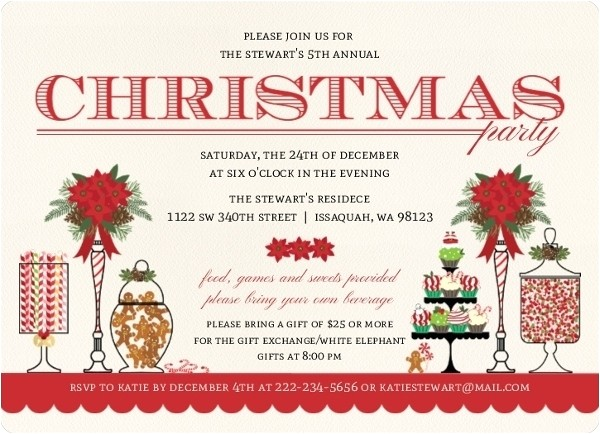 christmas dinner invitation wording ideas 070444295