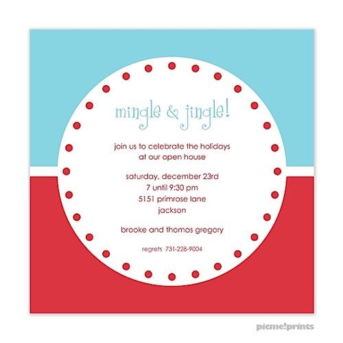 christmas dinner party invitation wording