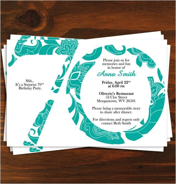 70th birthday invitations