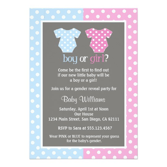 gender reveal party baby shower invitations 161840148563830429