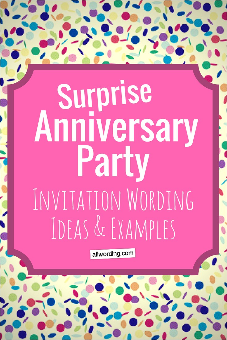 Invitations for Surprise Anniversary Party Surprise Anniversary Party Invitation Wording