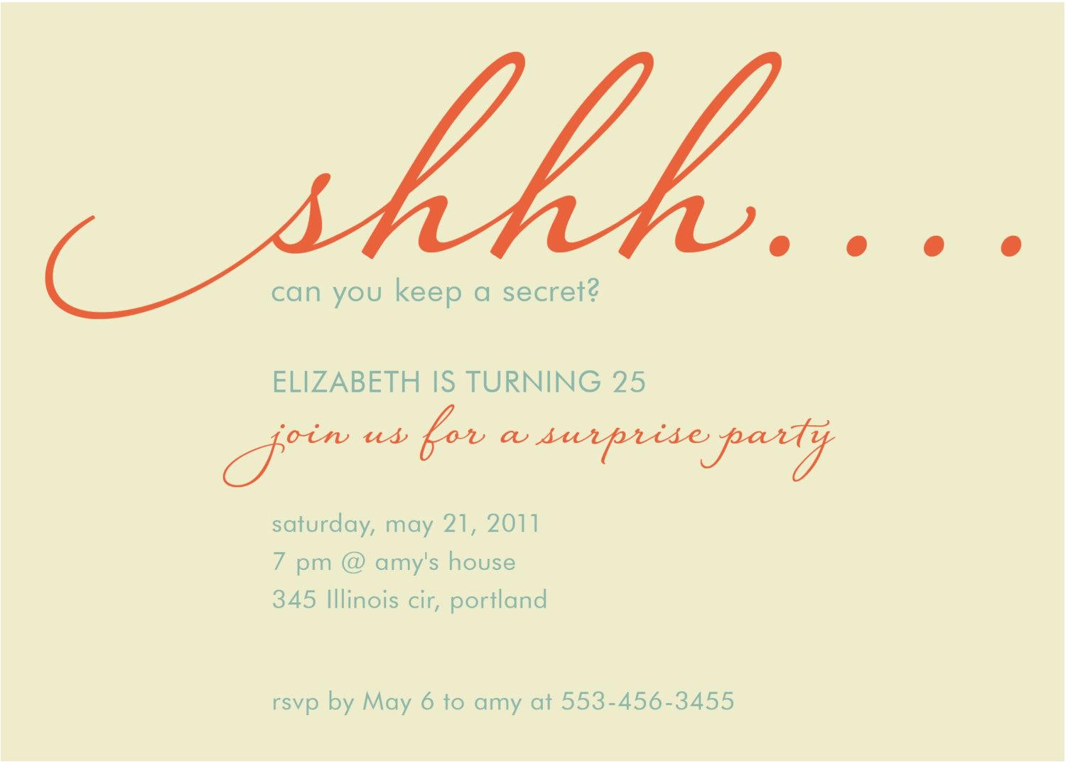 surprise birthday invitations sayings