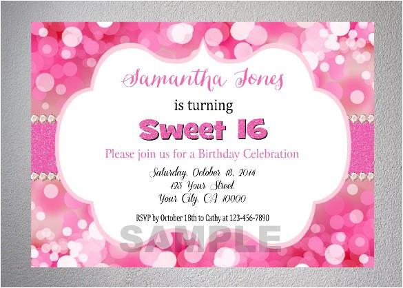 teenage birthday invitation