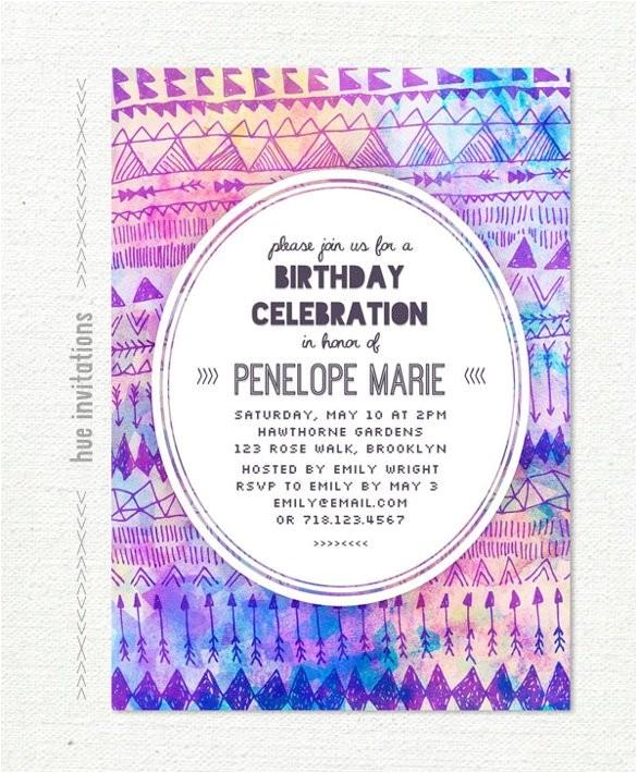 sample teenage birthday invitation
