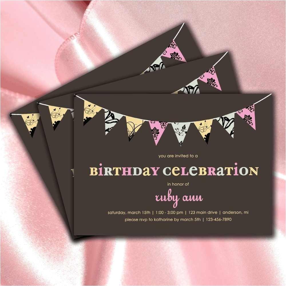 birthday invitations for teenage girls