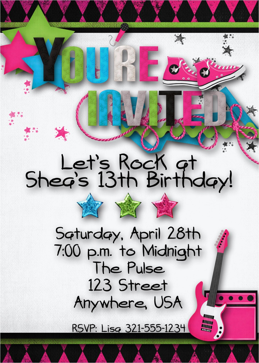 teen party invitations