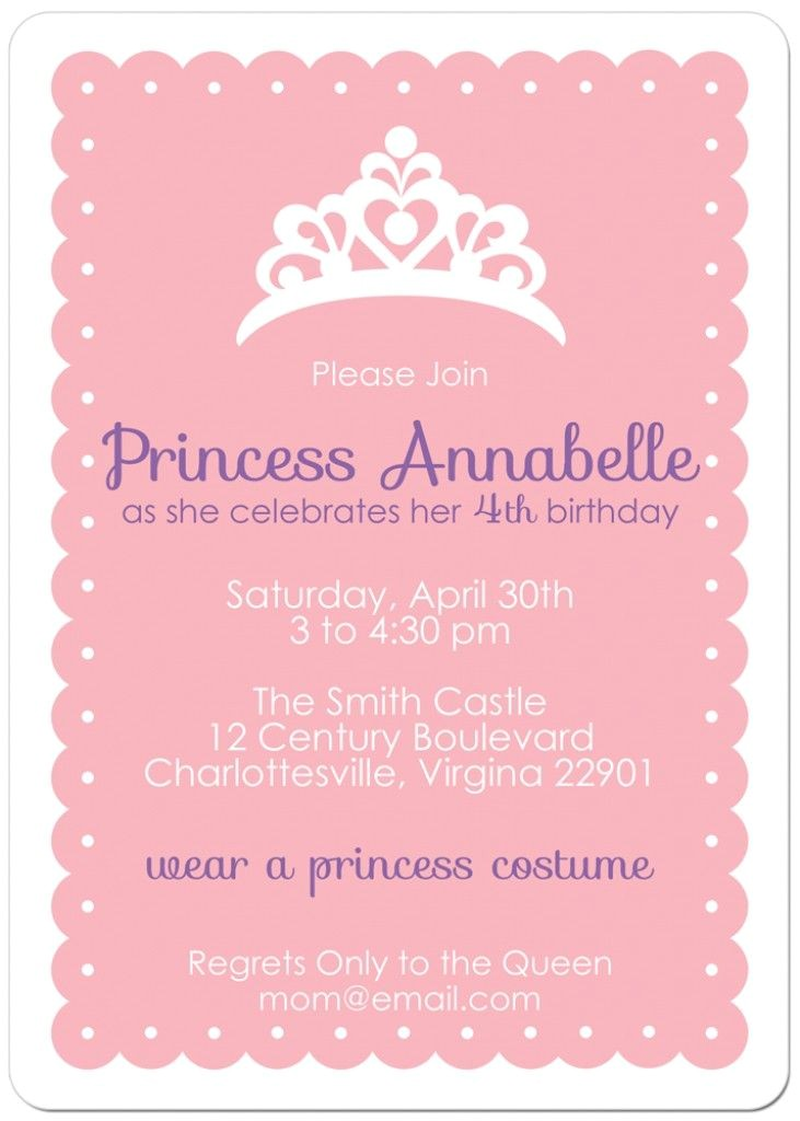 Invite A Princess to Your Party 25 Best Ideas About Princess Party Invitations On