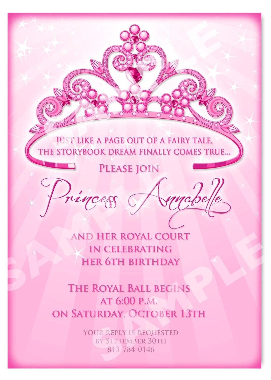 princess birthday invitation diy