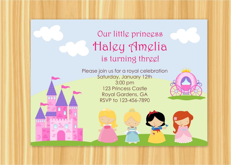 princess party invitation princess party