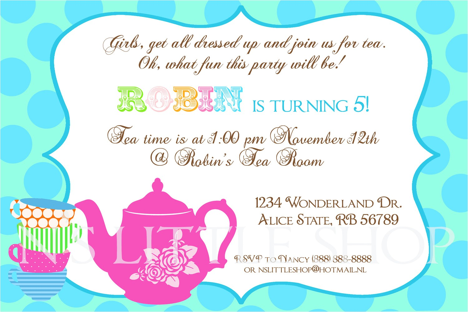 Invite to A Party Wording Tea Party Invitation Wording Tea Party Invitation Wording
