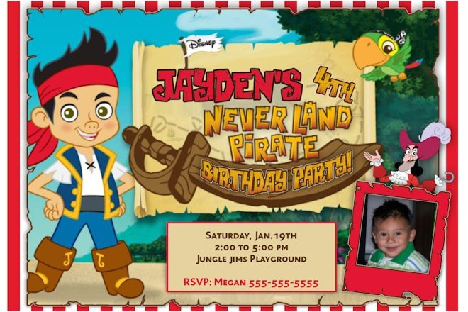 jake and the neverland pirates birthday invitations templates
