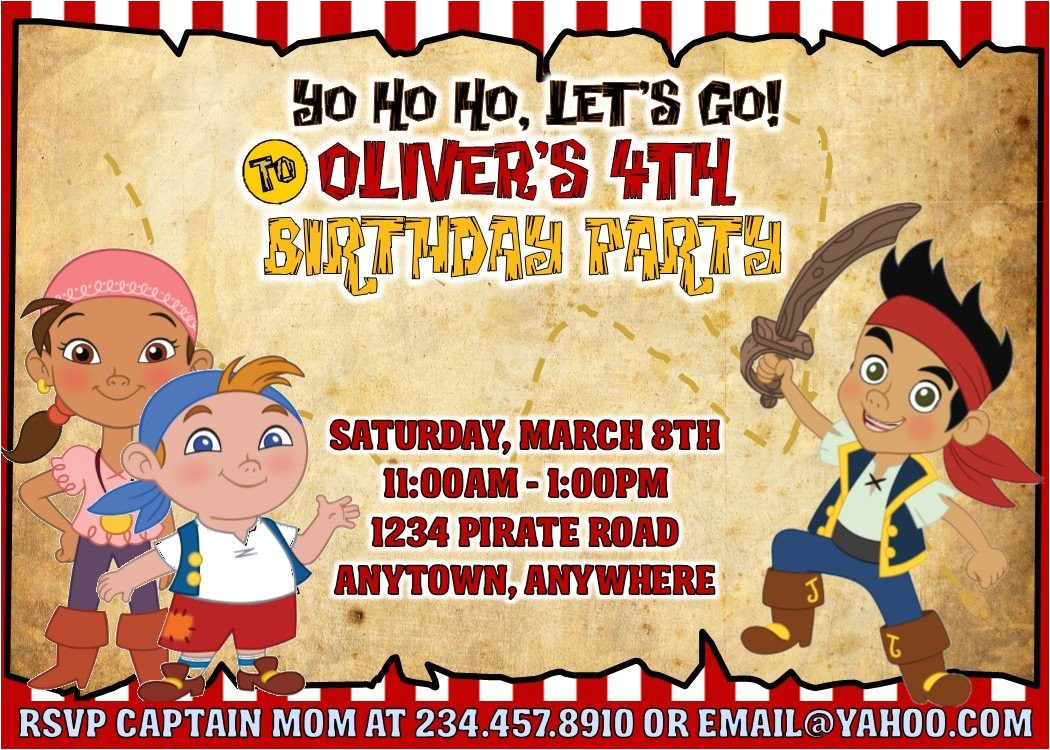 jake and the never land pirates party