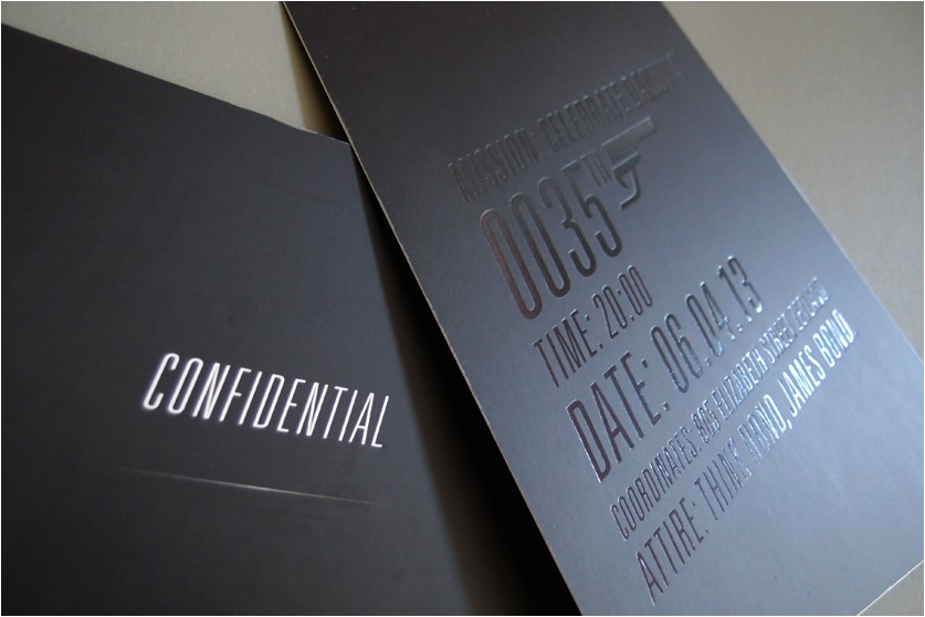 james bond invitation