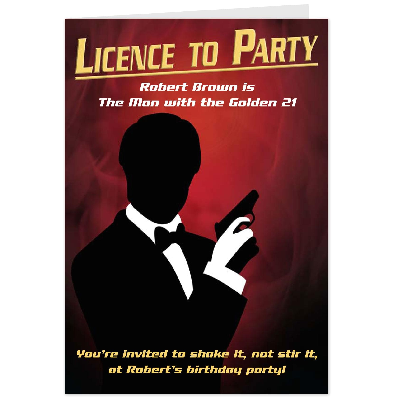james bond party invitation wording