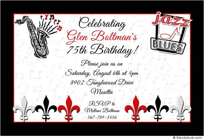 black white birthday party invitation ideas