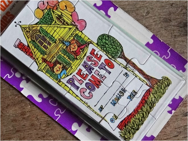 puzzle party invitations