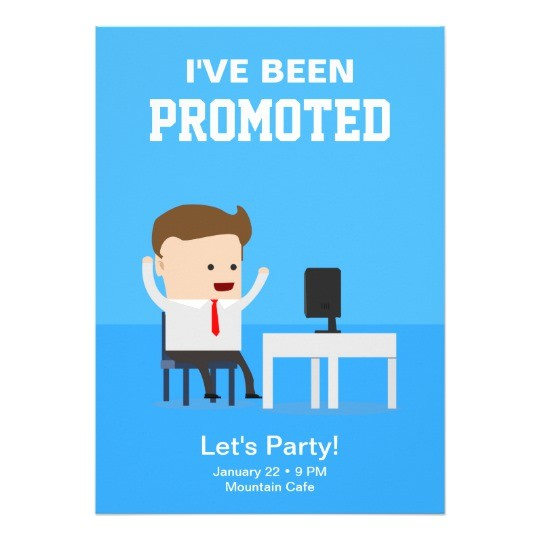 job promotion announcement party invitation 256448203499376693