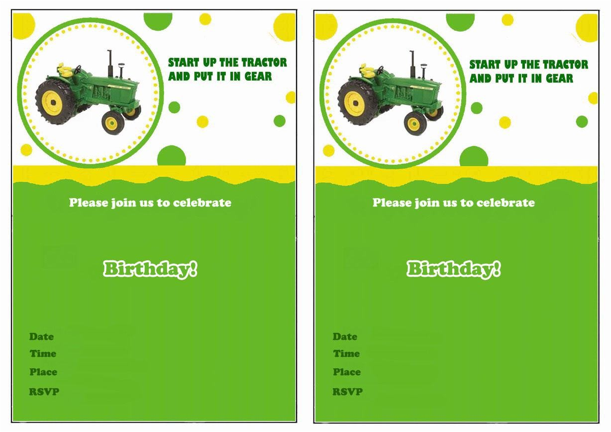 john deere invitations