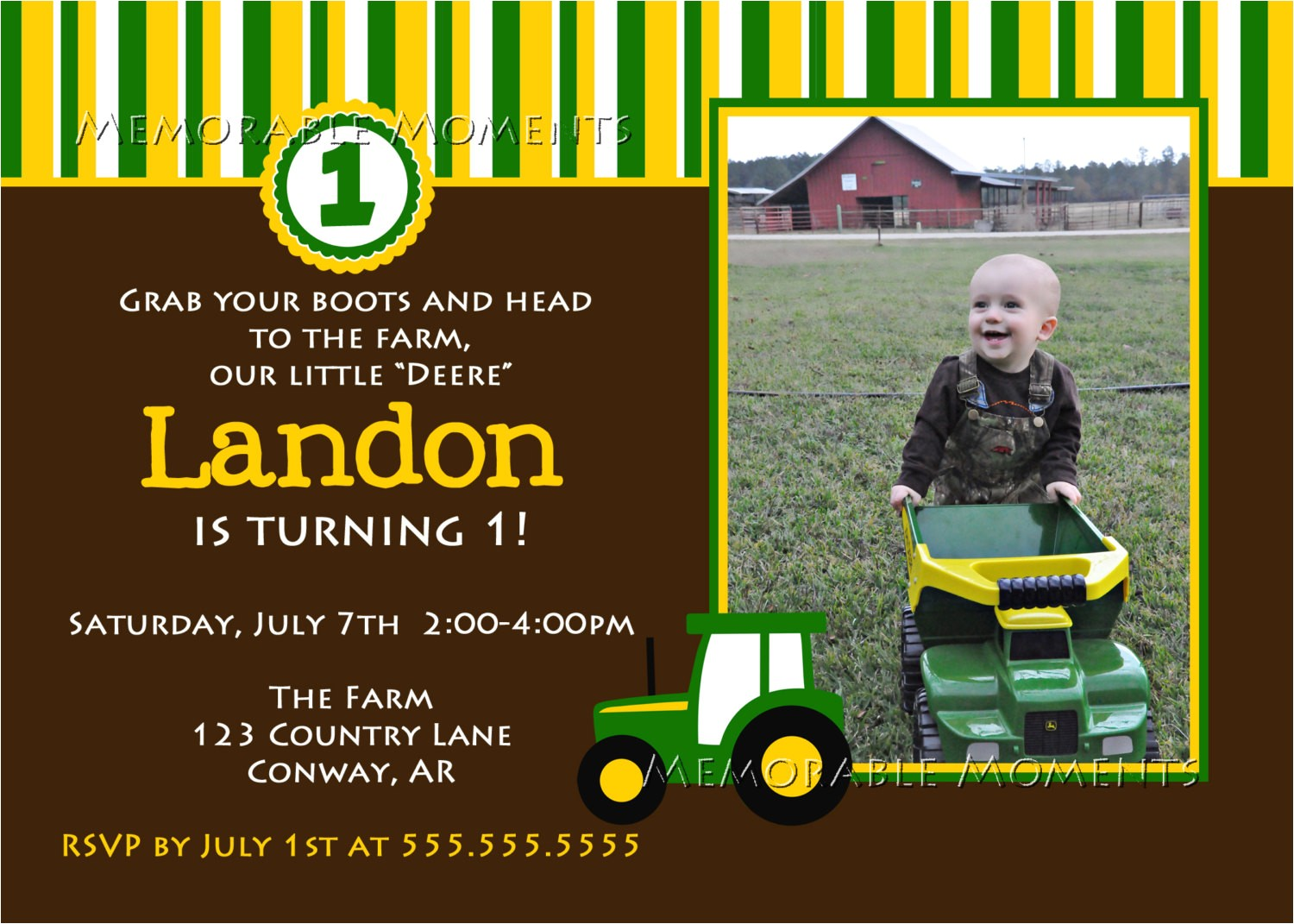 john deere farm birthday invitations templates