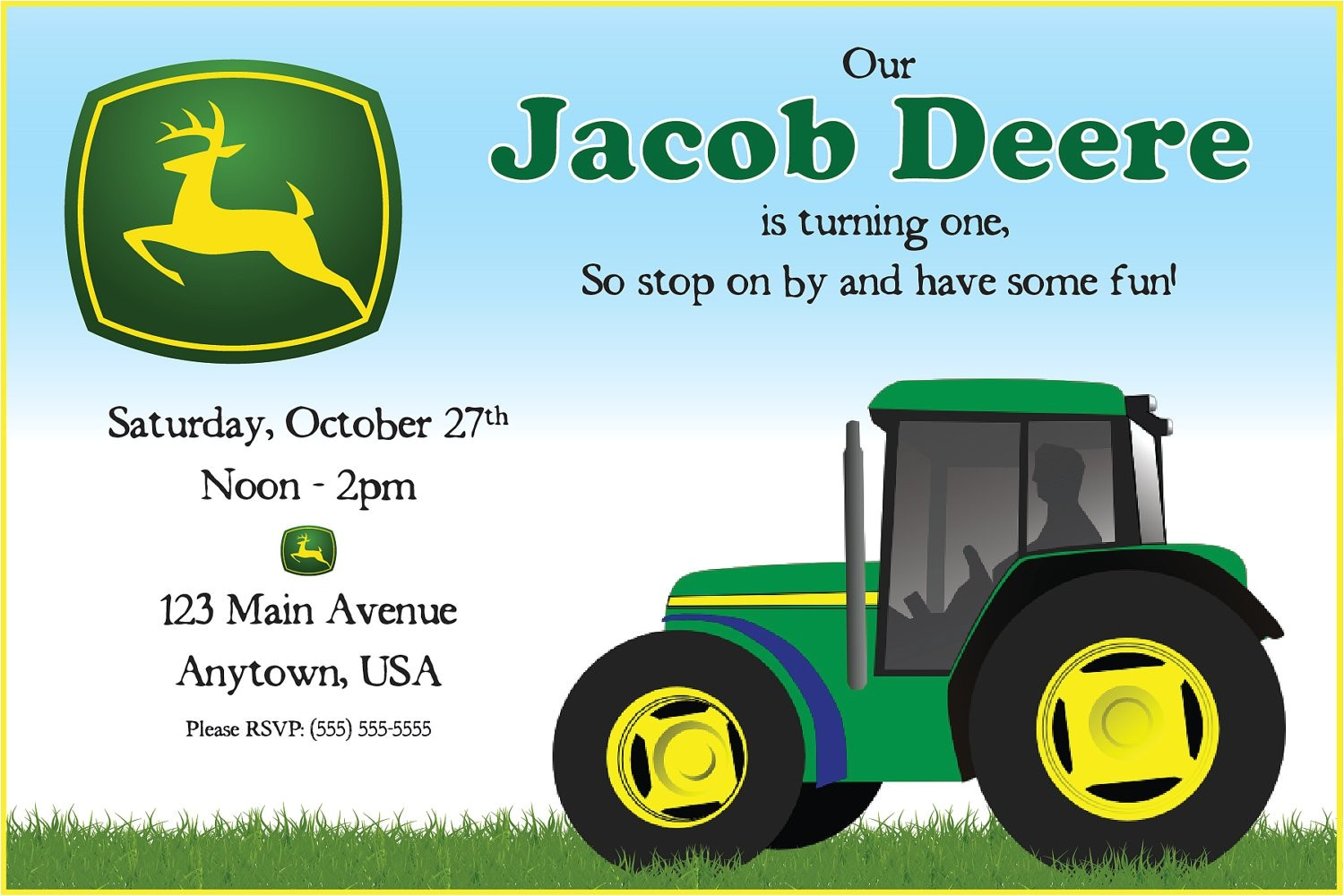 john deere birthday party invitations