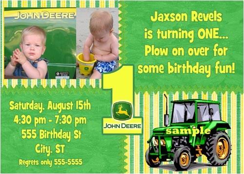 john deere 1st birthday invitations