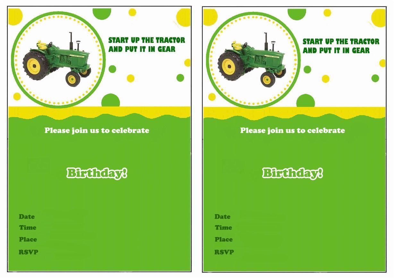 John Deere Tractor Birthday Party Invitations Baptism Invitation John Deere Invitations Superb