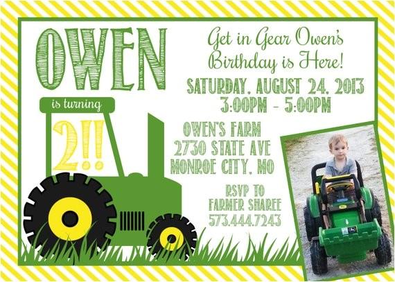 john deere green tractor birthday