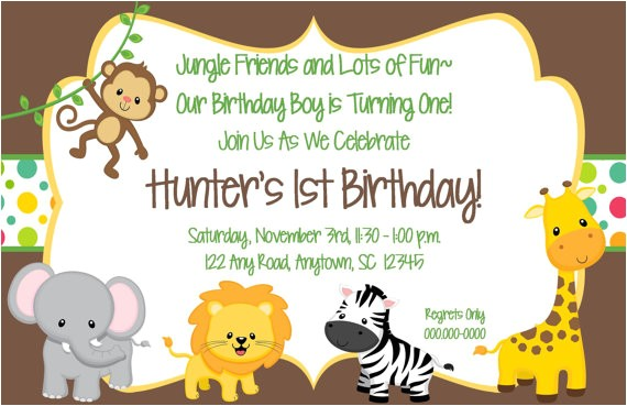 jungle theme birthday invitations free printable