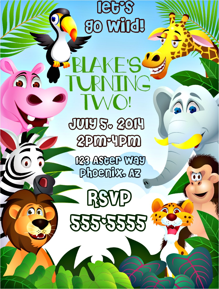 themed invitations safari