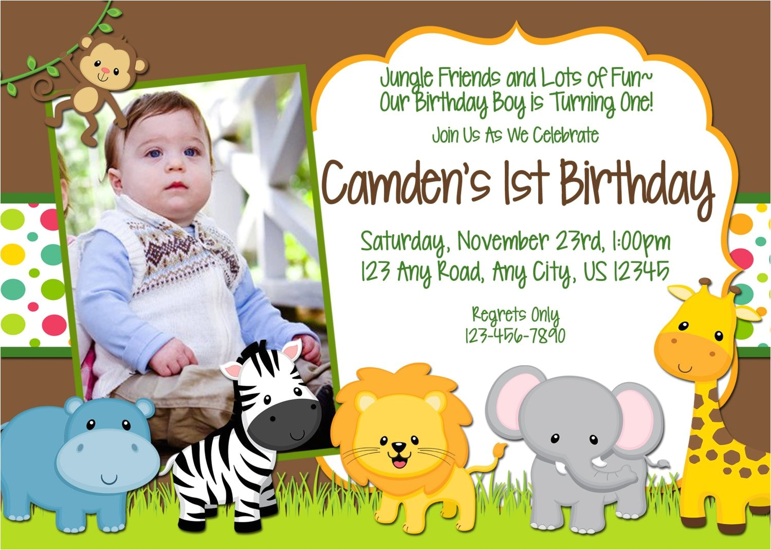 printable jungle themed birthday