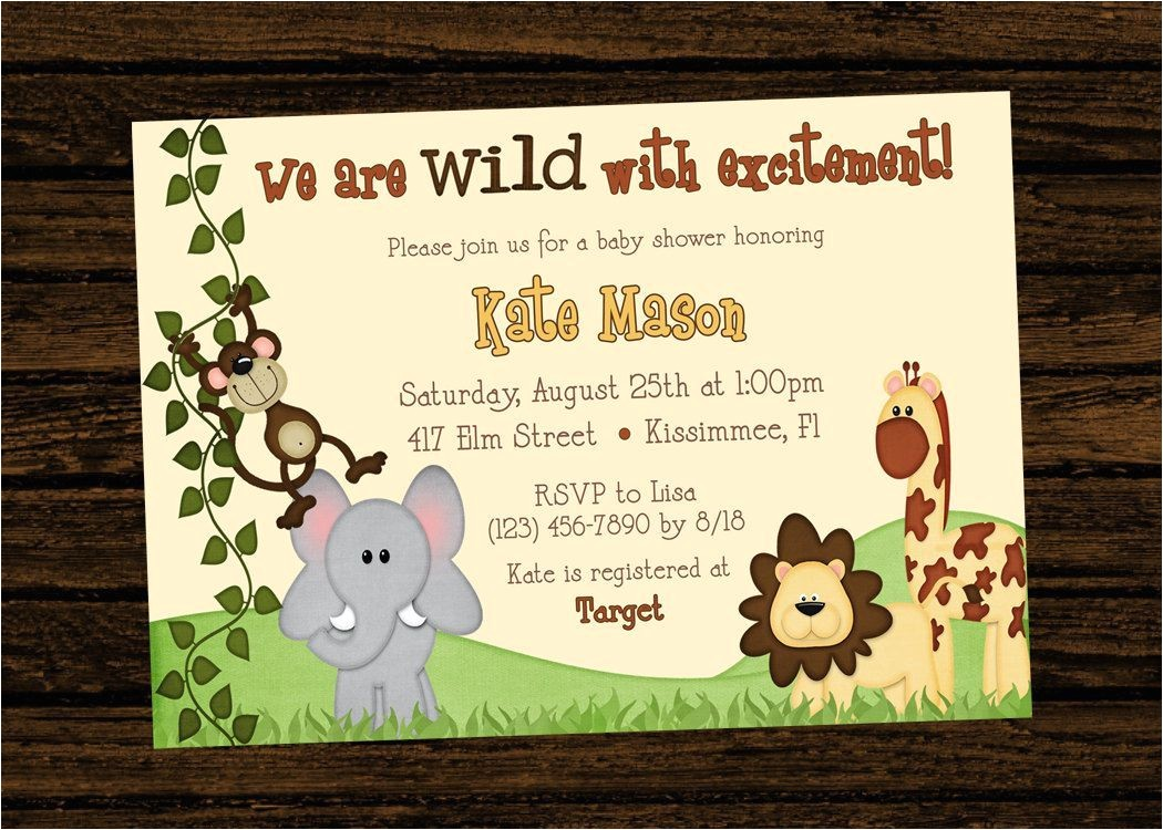 safari 1st birthday invitation wording