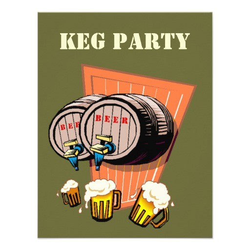 keg party beer kegs tapped octoberfest invitations 161751173555261654