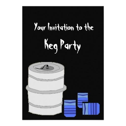 keg party invitation 161109271180534707