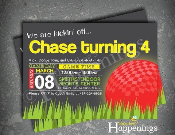 kickball birthday invitation kickball