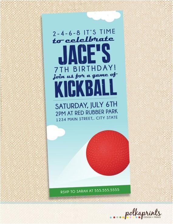 kickball invitations set of 12